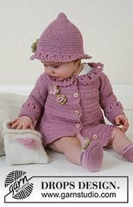 Bilde av Little Miss Berry Cardigan by DROPS Design