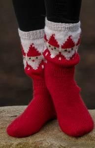 """Bilde av 2032-8c """"Nisse""""-sokker. VIKING GARN"""