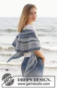 Bilde av Seascape Wrap by DROPS Design