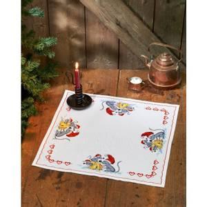 Bilde av Juleduk m/mus og ost 54,5x54,5 cm