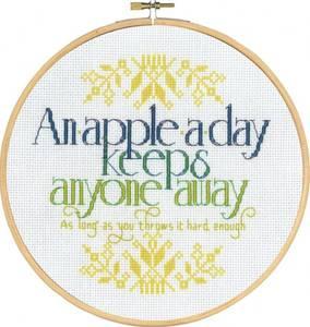 Bilde av an apple a day broderi