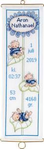 Bilde av baby veggteppe broderi blå