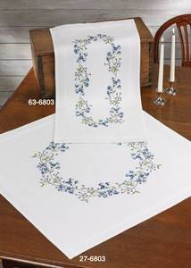 Bilde av Løper m/Blå blomster 40x80 cm