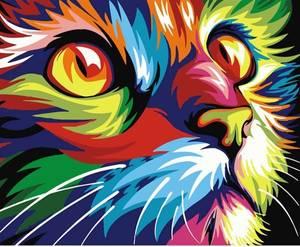 Bilde av Fargerik katt kit 20x25cm