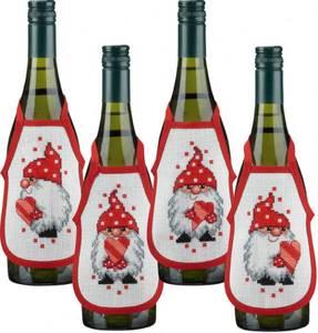 Bilde av Forkle til vinflasker m/nisser