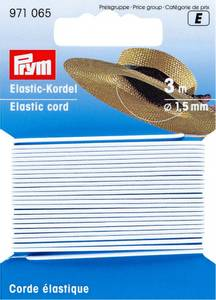 Bilde av Elastisk hvit hattebånd 3 m