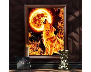 Bilde av Flamme ulv 30x40cm