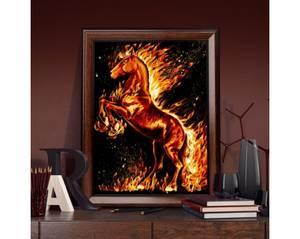 Bilde av Flamme hest 30x40cm