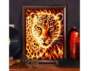 Bilde av Flamme leopard 30x40cm