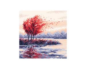 Bilde av Rød høst kit 20x20cm