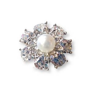 Bilde av Blomst med perle 20mm