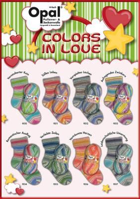 9512 Colors In Love 4-tråds Opal Strømpegarn