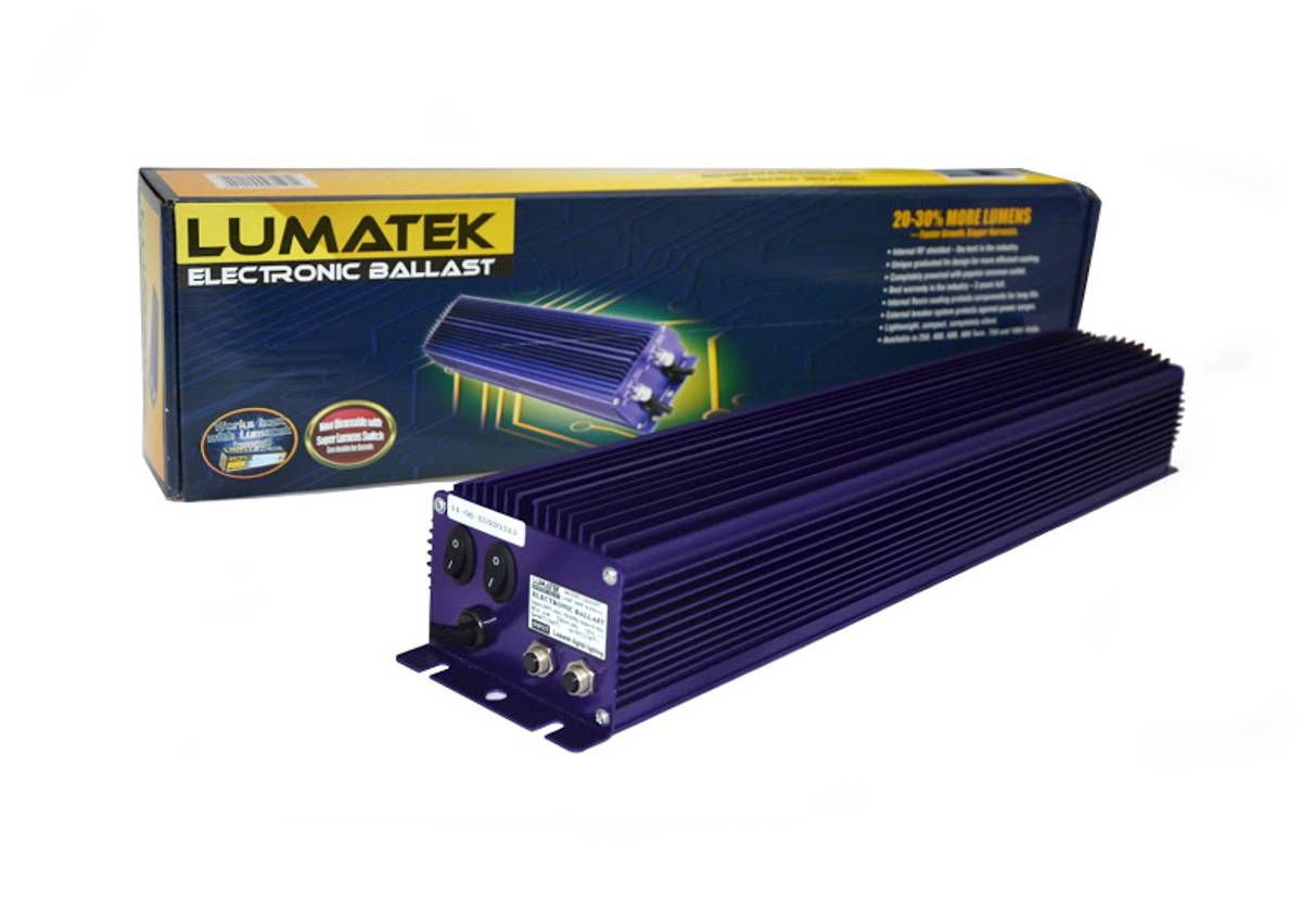 Lumatek Twin 2 x 600 W Digital HID-ballast