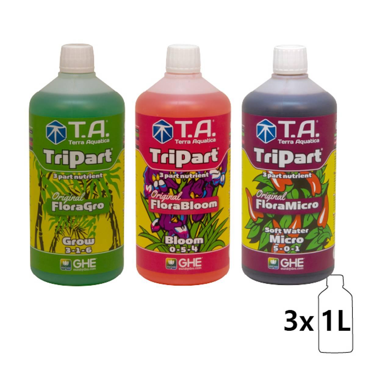T.A Flora Serie 3 x 1 liter