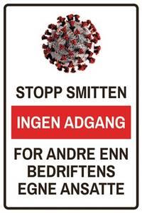 Bilde av Stopp smitten ingen adgang