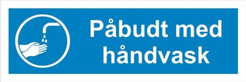 Påbudt med håndvask