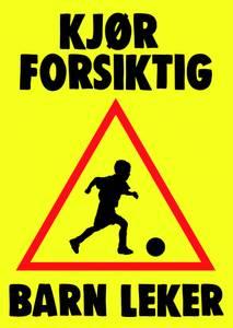 Bilde av Forsiktig-Barn leker skilt