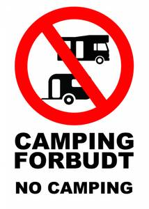 Bilde av Camping forbudt