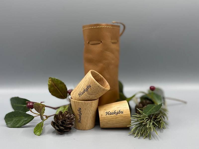 Graverte drammeglass 3 stk- m/skinnpose