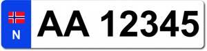 Bilde av Ekstra bilskilt til sykkelstativet , hvitt