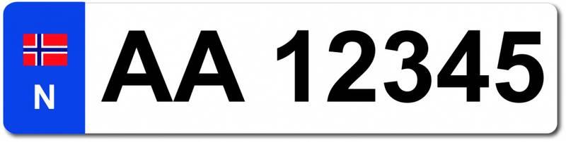 Ekstra bilskilt til sykkelstativet , hvitt