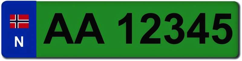 Ekstra bilskilt til sykkelstativet, grønt