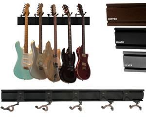 Bilde av String Swing oppheng for 5 gitarer - svart