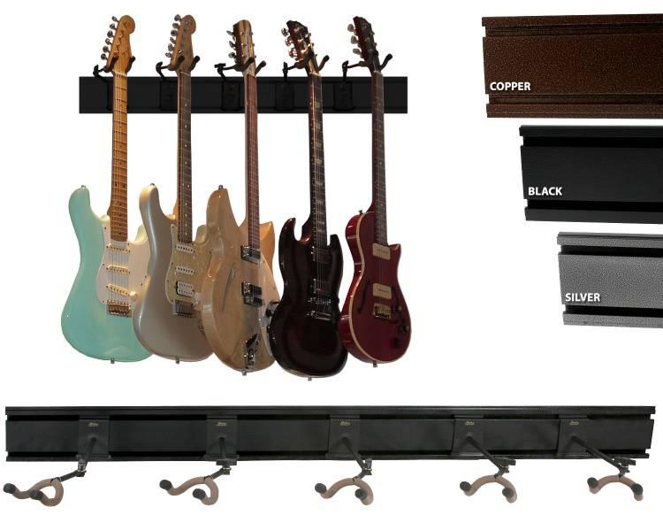 String Swing oppheng for 5 gitarer - svart