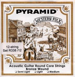Bilde av Pyramid Western Folk Round Core 12 string set