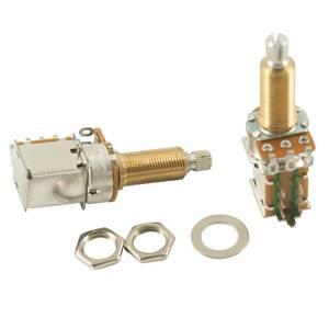 Bilde av Potmeter m Push-Pull DPDT switch 500K - US gjenget XL