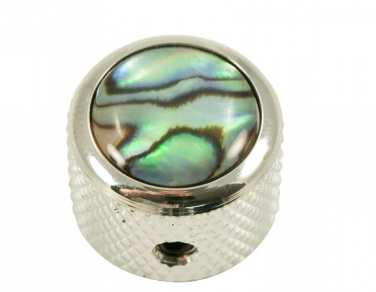 Dome knob - krom - natural abalone