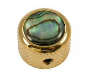 Bilde av Dome knob - gull - natural abalone