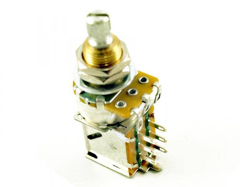 Potmeter m DPDT switch 500K - US gjenget