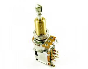 Bilde av Potmeter m Push-Push DPDT switch 500K - US gjenget XL