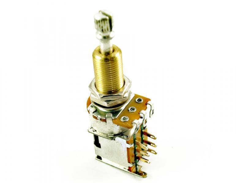 Potmeter m Push-Push DPDT switch 500K - US gjenget XL
