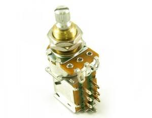 Bilde av Potmeter m DPDT Push Pull switch 250K - US gjenget