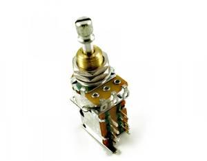 Bilde av Potmeter m DPDT push push switch 250K - US gjenget