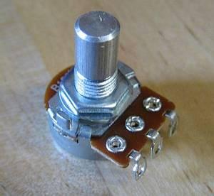 Bilde av Potmeter 250K LIN mini - solidshaft