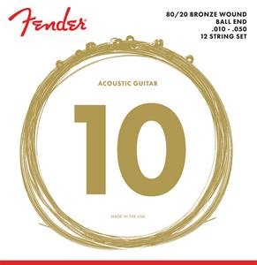 Bilde av Fender 70-12L 80/20 Bronze 12 strengs sett
