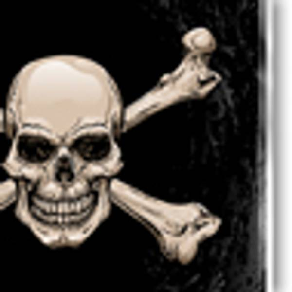 Bakplate for Fender Strat - Skull & Crossbones