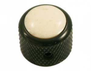 Bilde av Dome knob - sort - bone ivory