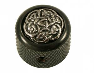 Bilde av Dome knob - sort - celtic wave