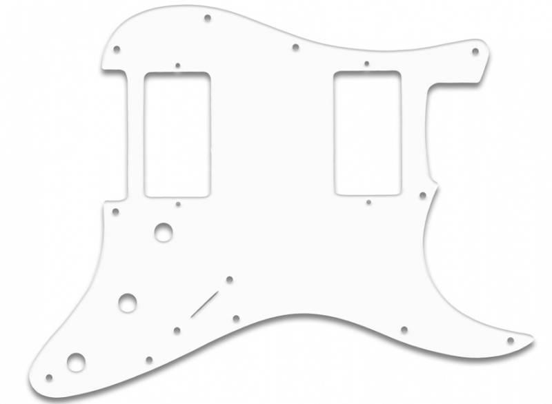 Stratocaster HH - hvit 3 lags