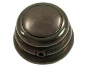 Bilde av Ringo knob - sort - ebony inlay