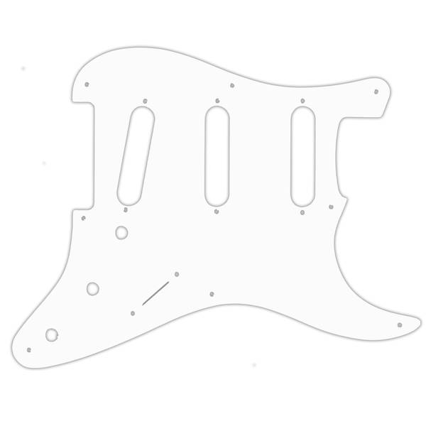 Stratocaster SSS - 8 hulls PRE CBS - hvit tynn