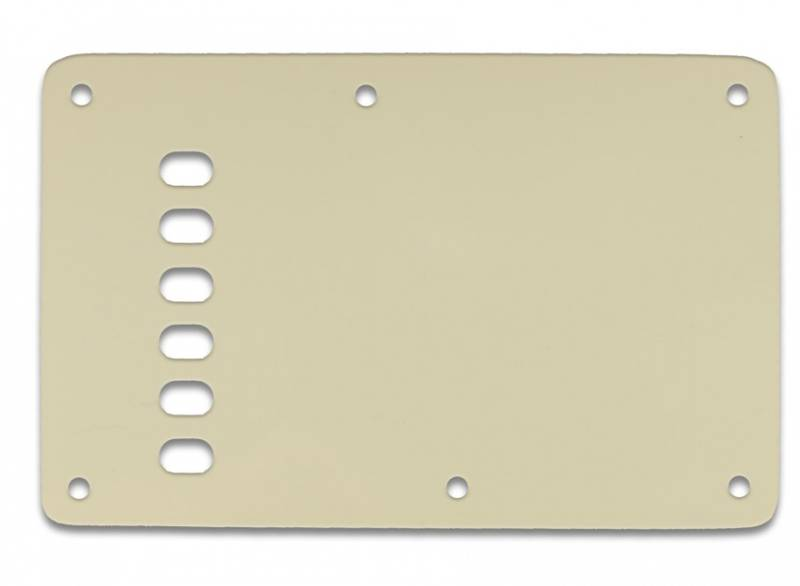 Bakplate for Fender Stratocaster - Vintage - Pergamenthvit