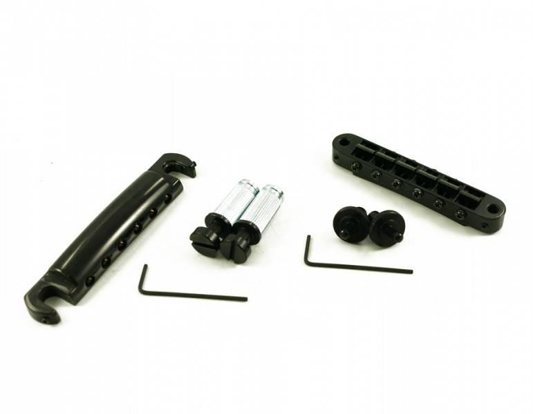 TonePros Standard Tuneomatic/Tailpiece - Sadler m spor - Svart