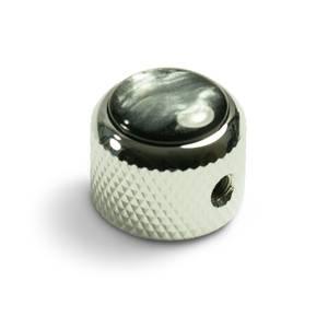 Bilde av Dome knob - krom - black pearl