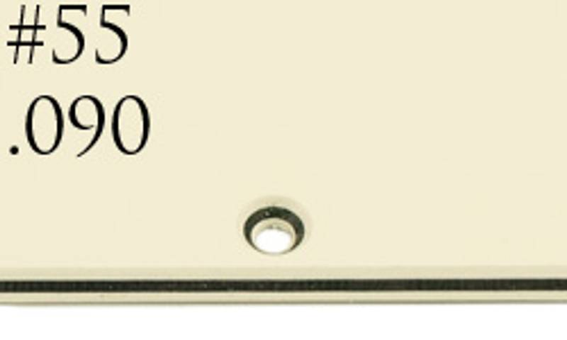 Plekterbrett for 1 humbucker - pergamenthvit