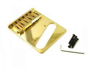 Bilde av Bridge for Fender Telecaster - Left Hand - gull